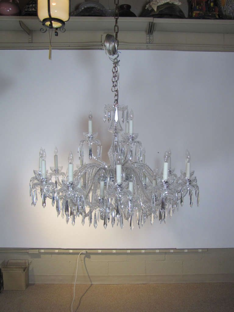 Large multi tiered mid century waterford crystal chandelier for sale on this is a large multi tiered waterford chandelier four feet in diameter it was originally in the swissotel boston arubaitofo Choice Image