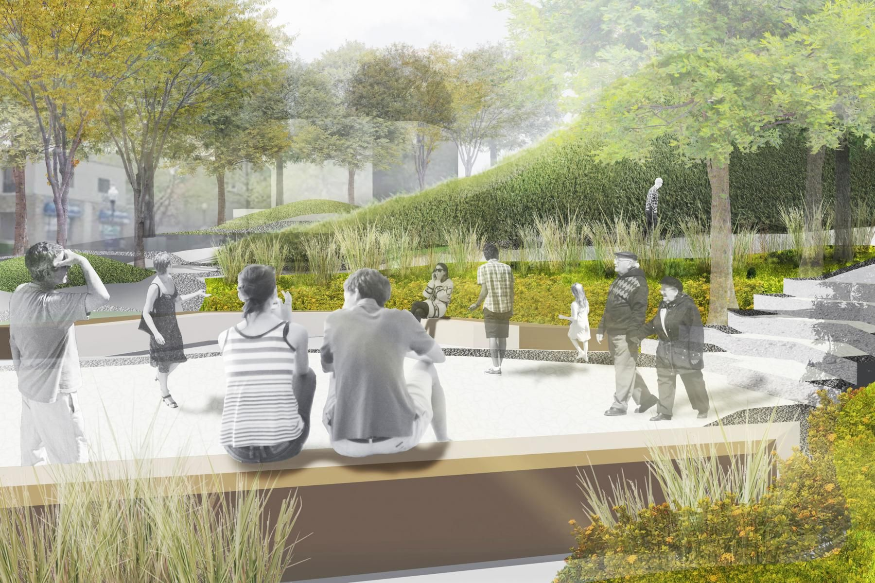 landscape architecture master plan rendering - Google Search ...