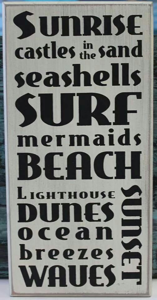 Love It Beach Words Wood Signs Sayings Beach Quotes