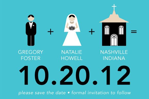1000 images about Creative Save the Date Invitation IDEAS on – Email Save the Date Wedding