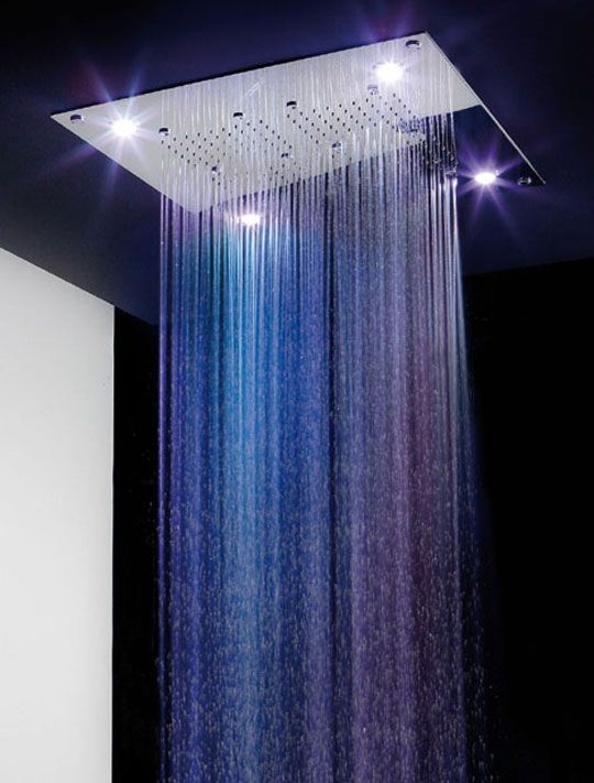 Italian Experts For Color Therapy Rain Spa Shower Heads