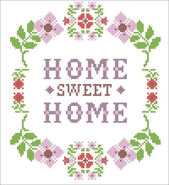 Bogo Free Pdf Flower Home Sweet Home Cross Stitch Pdf Pattern Pdf Pattern Cross Stitch House Cross Stitch Flowers Free Cross Stitch