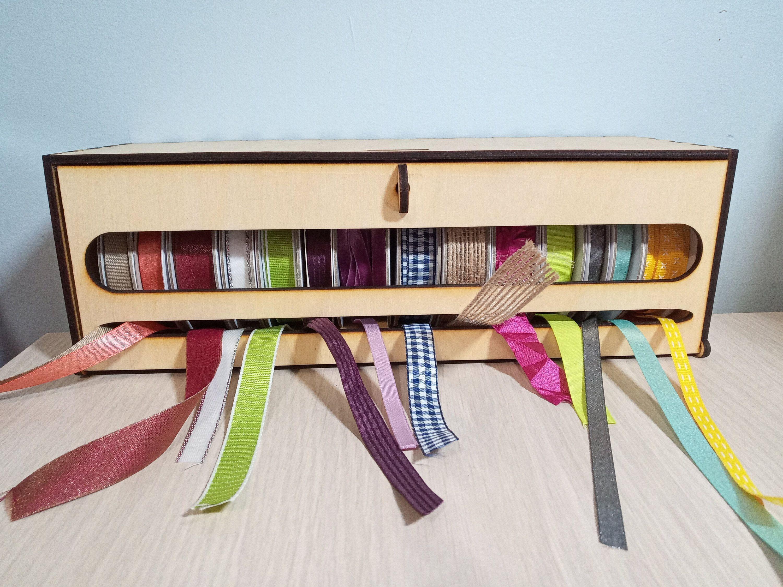 Ribbon Organizer And Dispenser Box Ribbon Organization Space