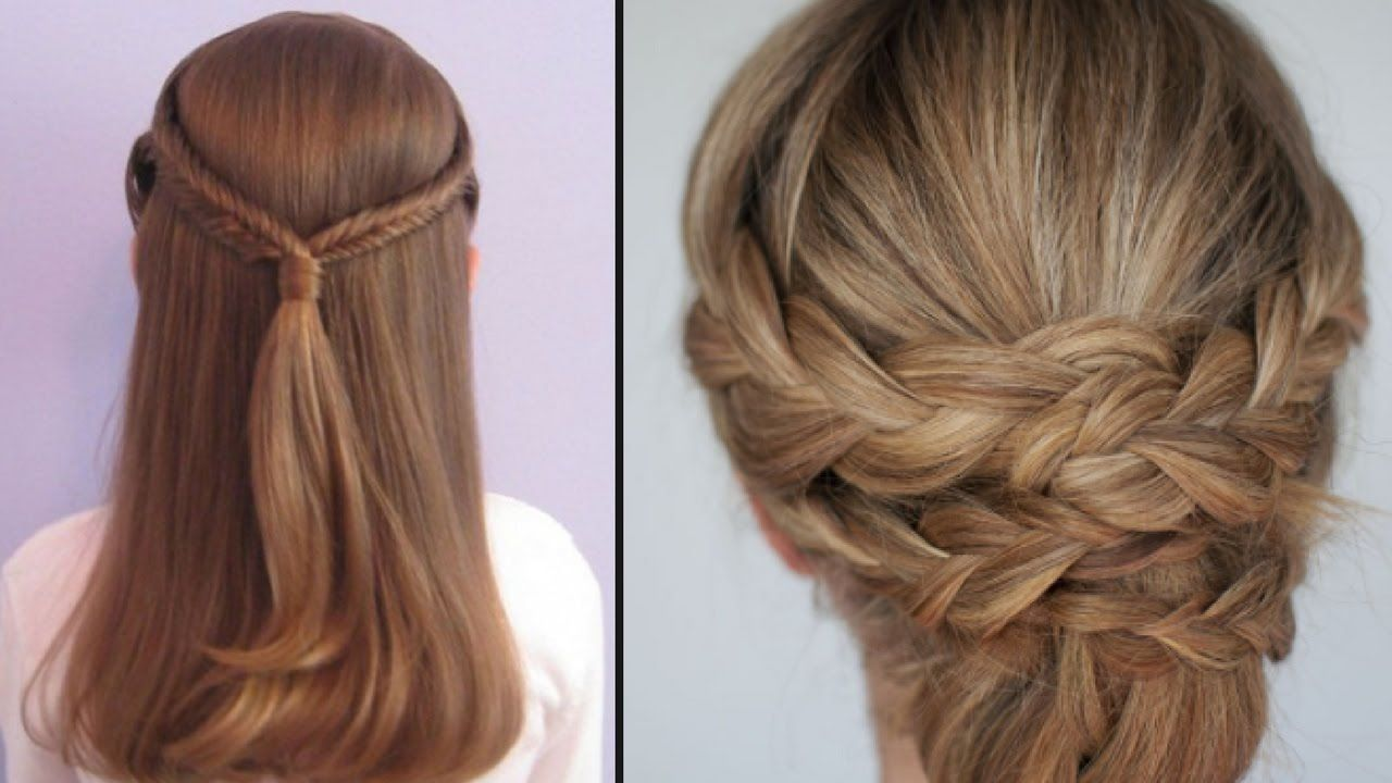 beautiful waterfall hairstyle   simple hairstyle   lady