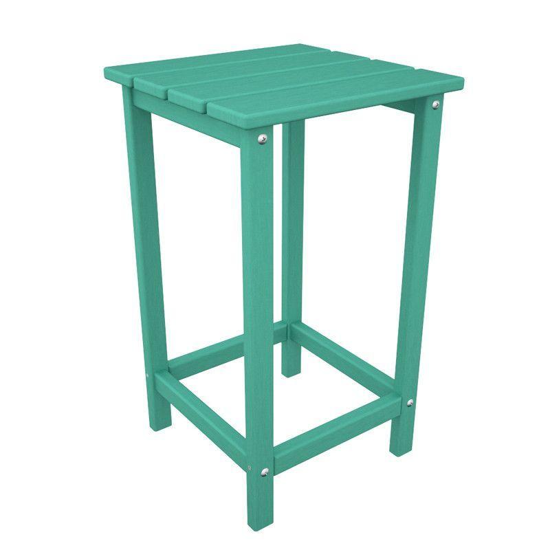 "Polywood ECT26AR Long Island 26"" Counter Side Table in Aruba"