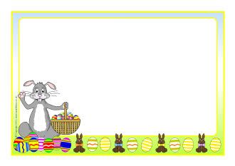Easter bunny A4 page borders (SB7646) - SparkleBox   Marcos