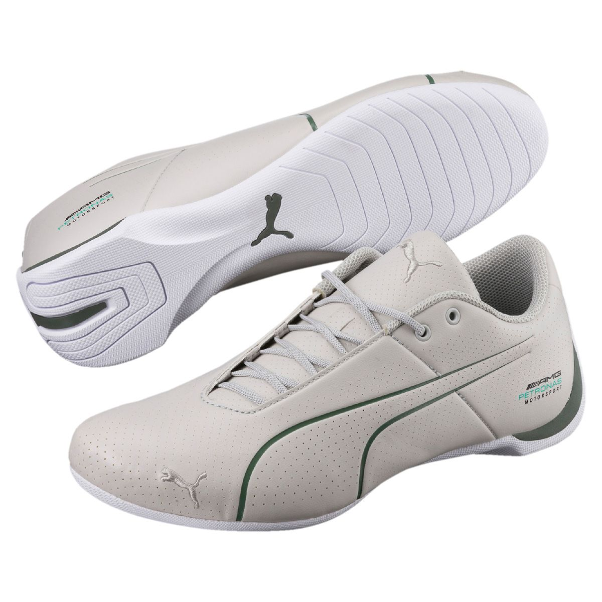 3956a48dd6f Tênis Couro Puma Mercedes Future Cat Ultra Masculino - Off White ...