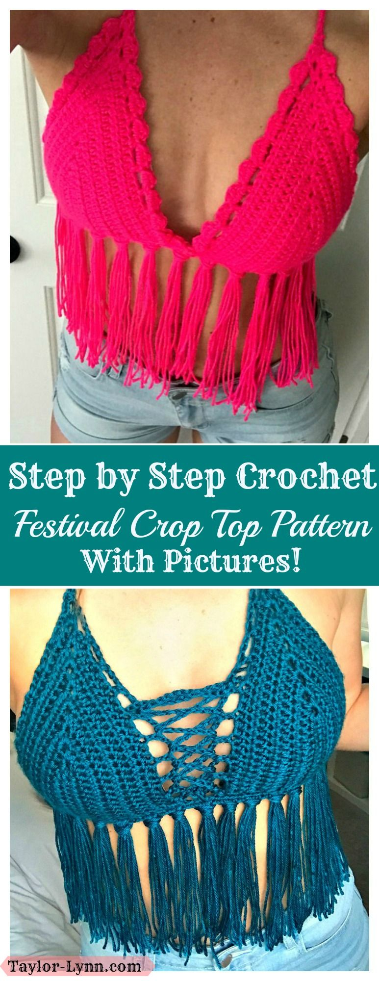 Crop Top, Crochet Crop top, Festival Top, Festival Crop top ...