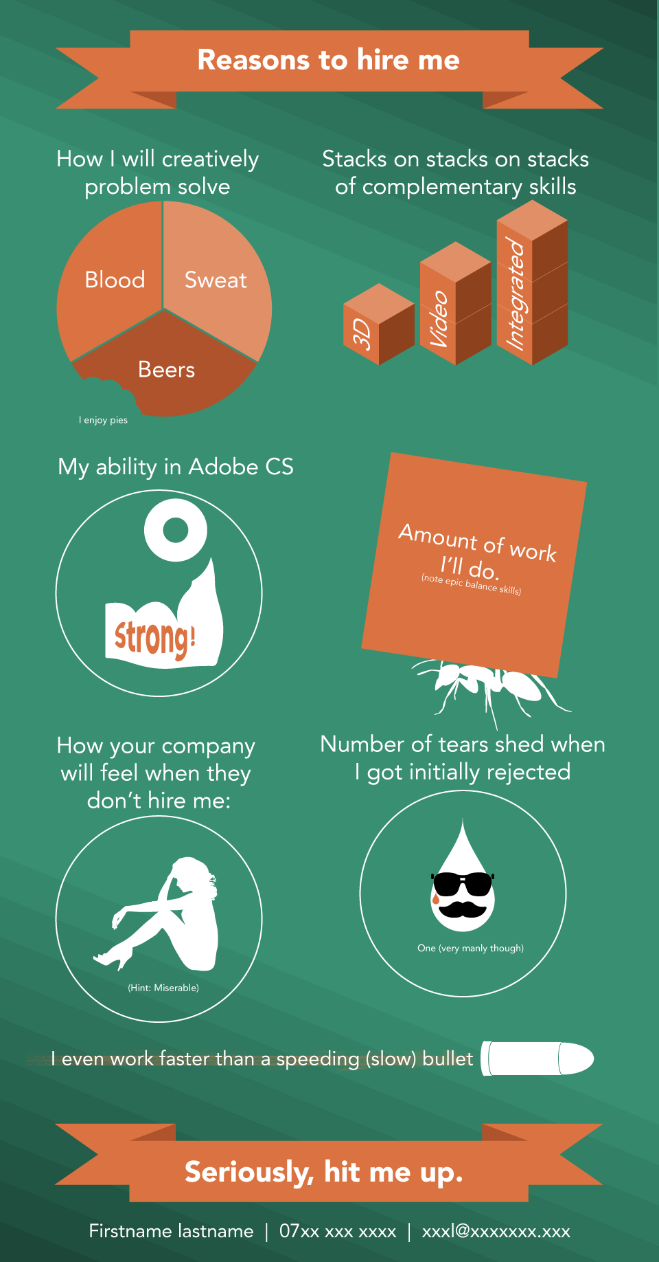 Post job rejection infographic (from Reddit) Problem