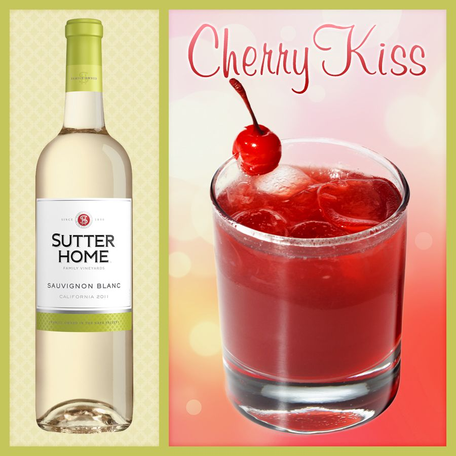 Sutter Home Wine Cocktail Cherry Kiss Sutter Home Family Vineyards Wine Cocktails Non Alcoholic Wine Cherry Kiss