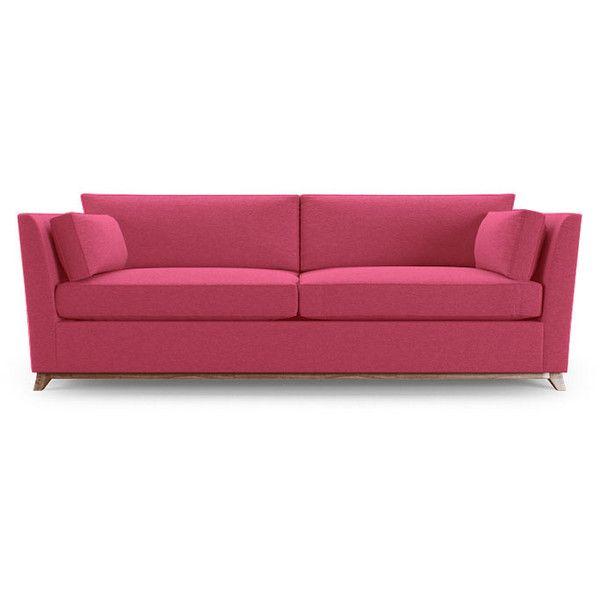 Joybird Roller Mid Century Modern Pink Sleeper Sofa (u20ac1.455) ❤ Liked On  Polyvore Featuring Home, Furniture, Sofas, Pink, Mid Century Modern Couch,  Mid ...