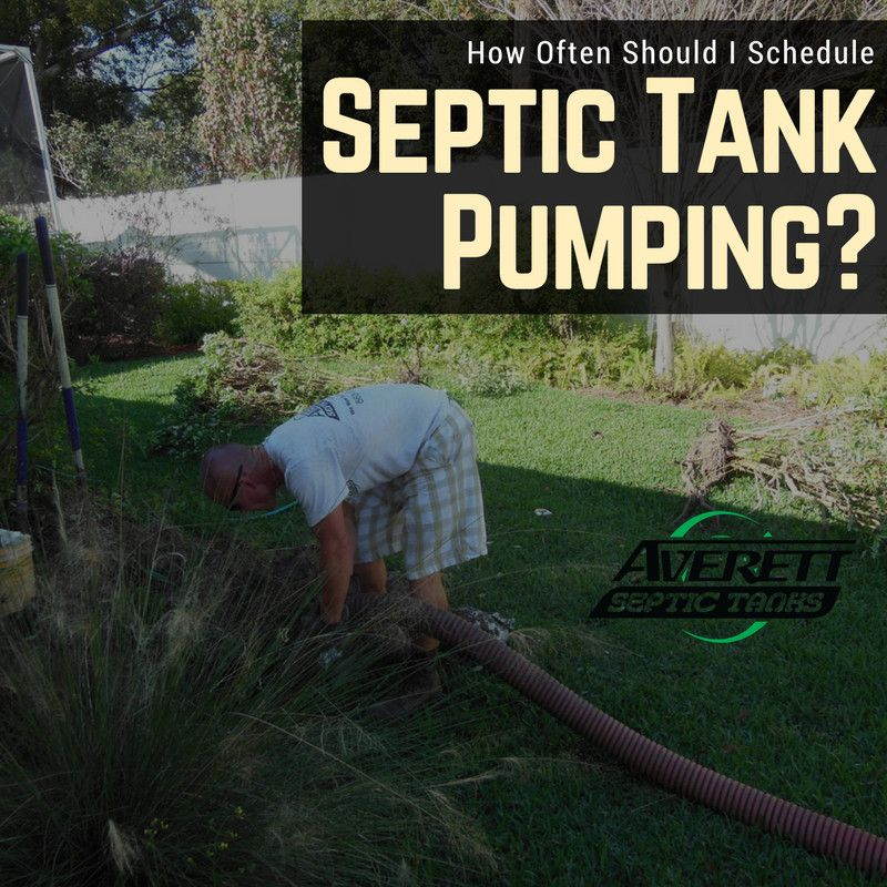 How often should i schedule septic tank pumping septic