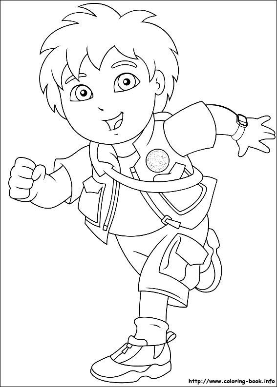 Go, Diego, go! coloring picture | Coloring Pages | Pinterest | Birthdays