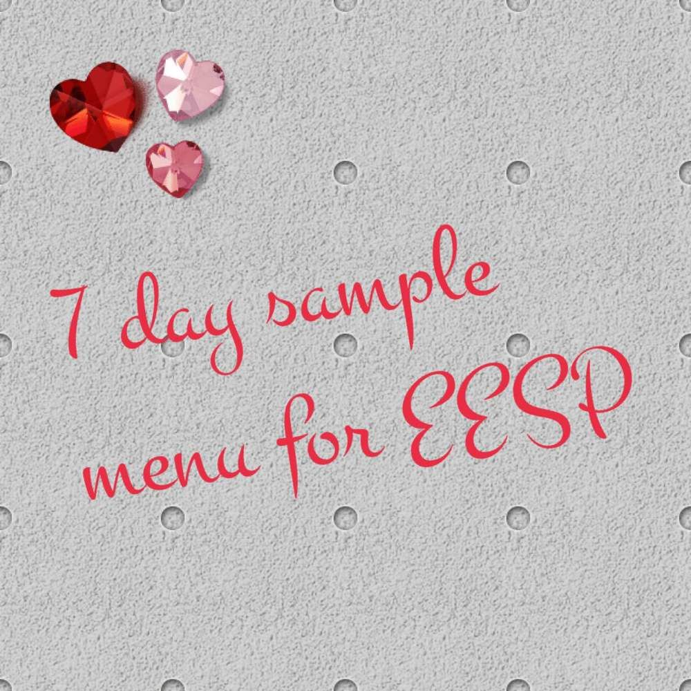 7 Day Extra Easy Sp Plan | Sample Menu, Shopping Lists And Menu