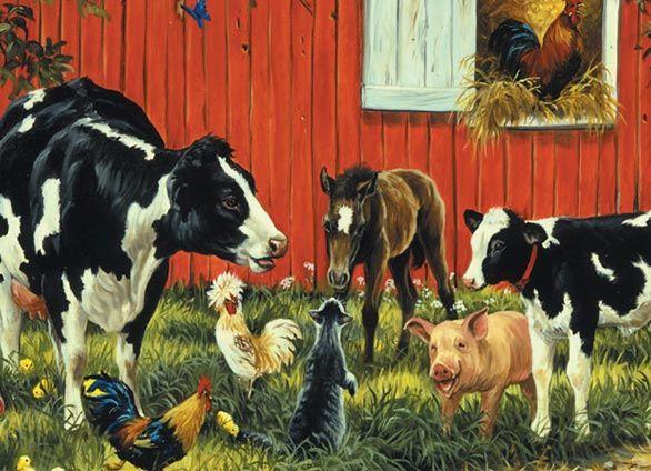 Animal Farm Farm Mural Animal Mural Farm Animal Mural