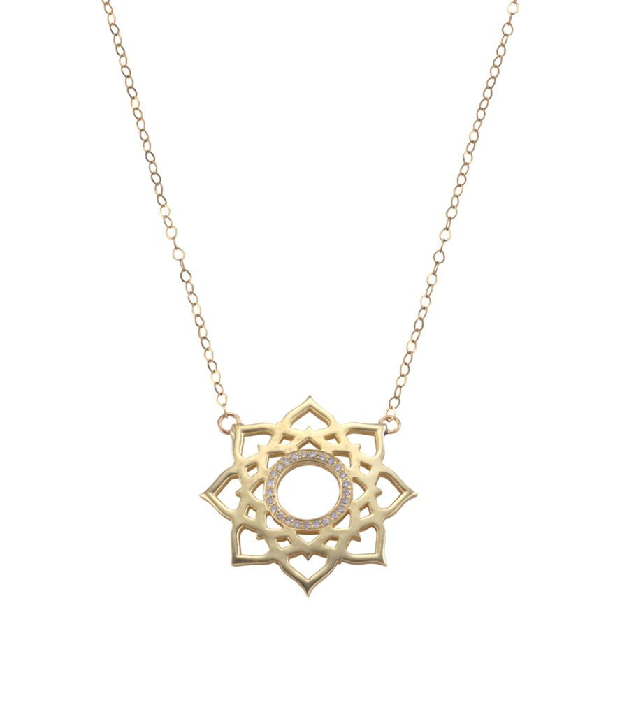 Tara Hirshberg Lotus necklace