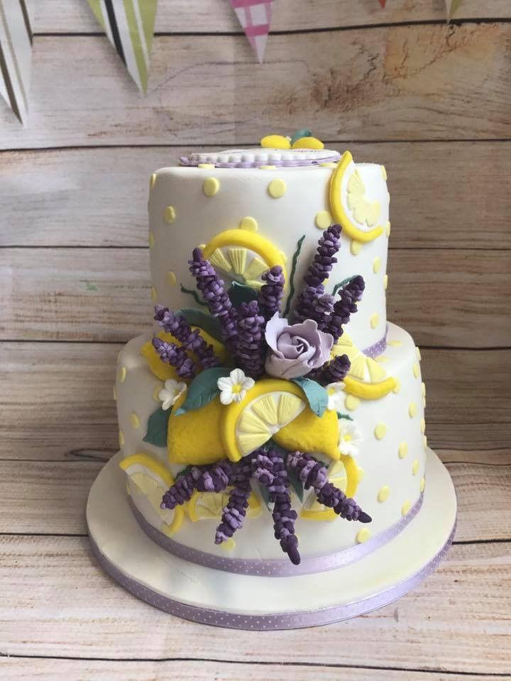 Lavender And Lemon Birthday Anniversary Cake Birthday And