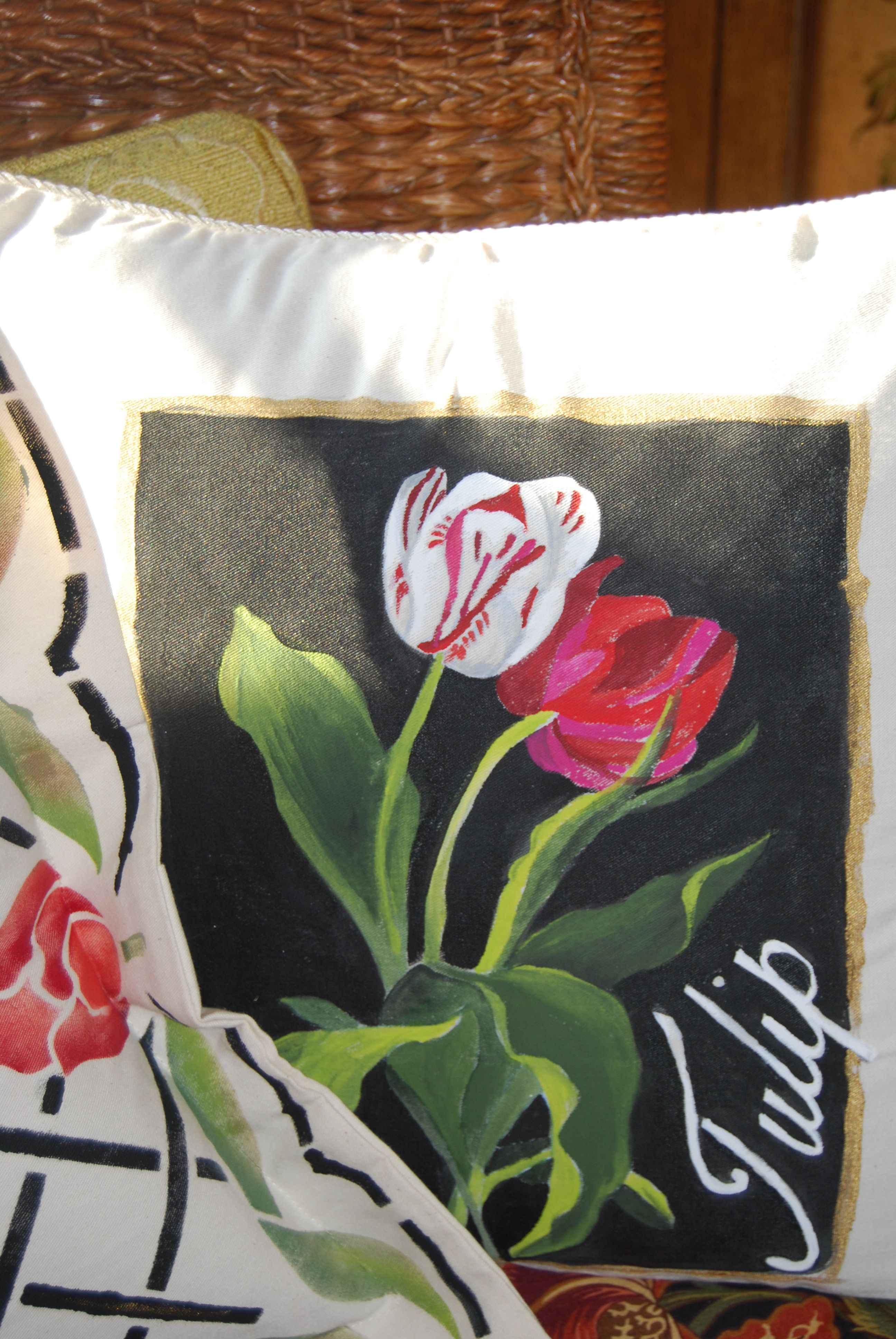 easy diy throw pillow covers step by step tutorial.htm painted pillows hand painted pillows  fabric painting  pillows  hand painted pillows  fabric painting