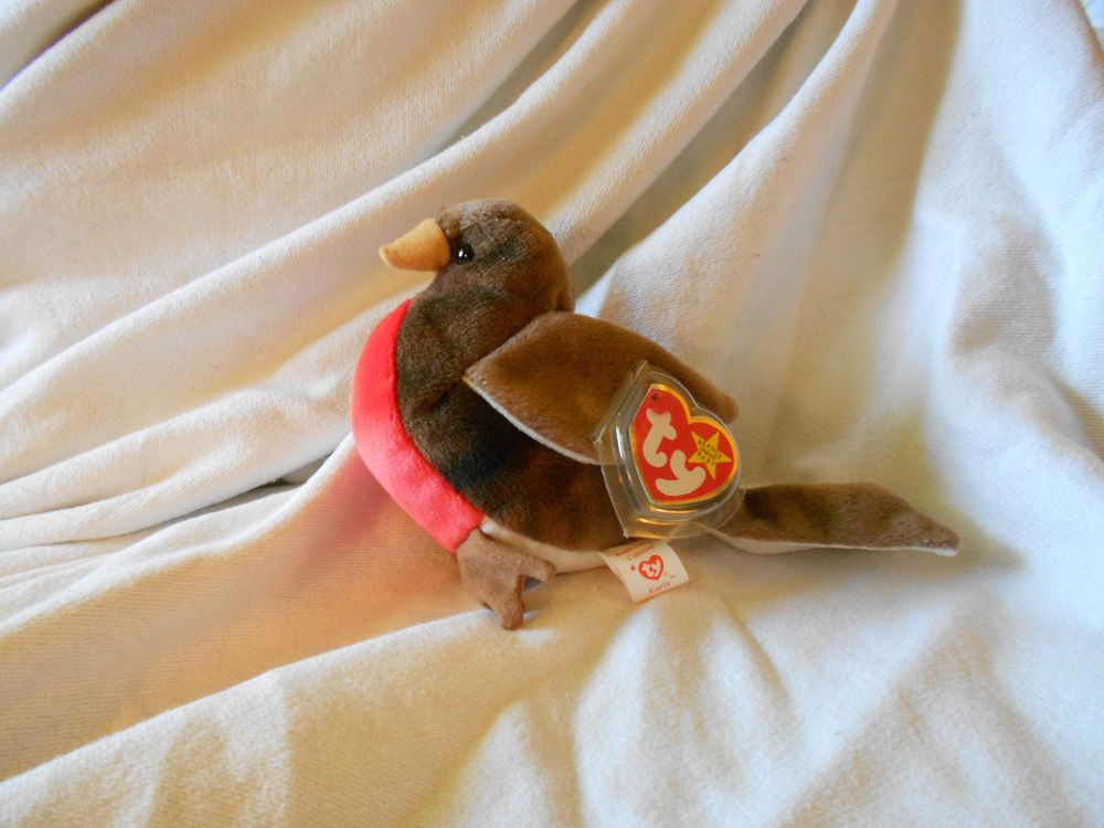 b40e03820c8 TY Beanie Baby EARLY the Robin Rare Original Retired VG+