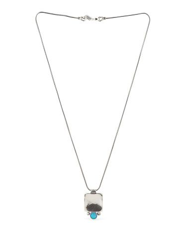 Made In Israel Sterling Silver Opal Necklace