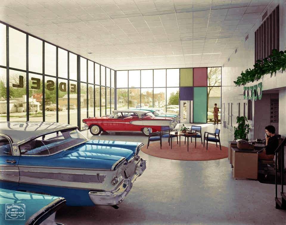 1958 Swearingen Bros. Edsel Dealership, Austin, Texas