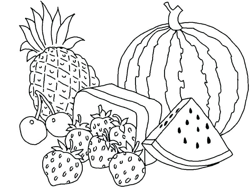 Fruit Basket Coloring Pages Free Printable Fruit Basket Coloring