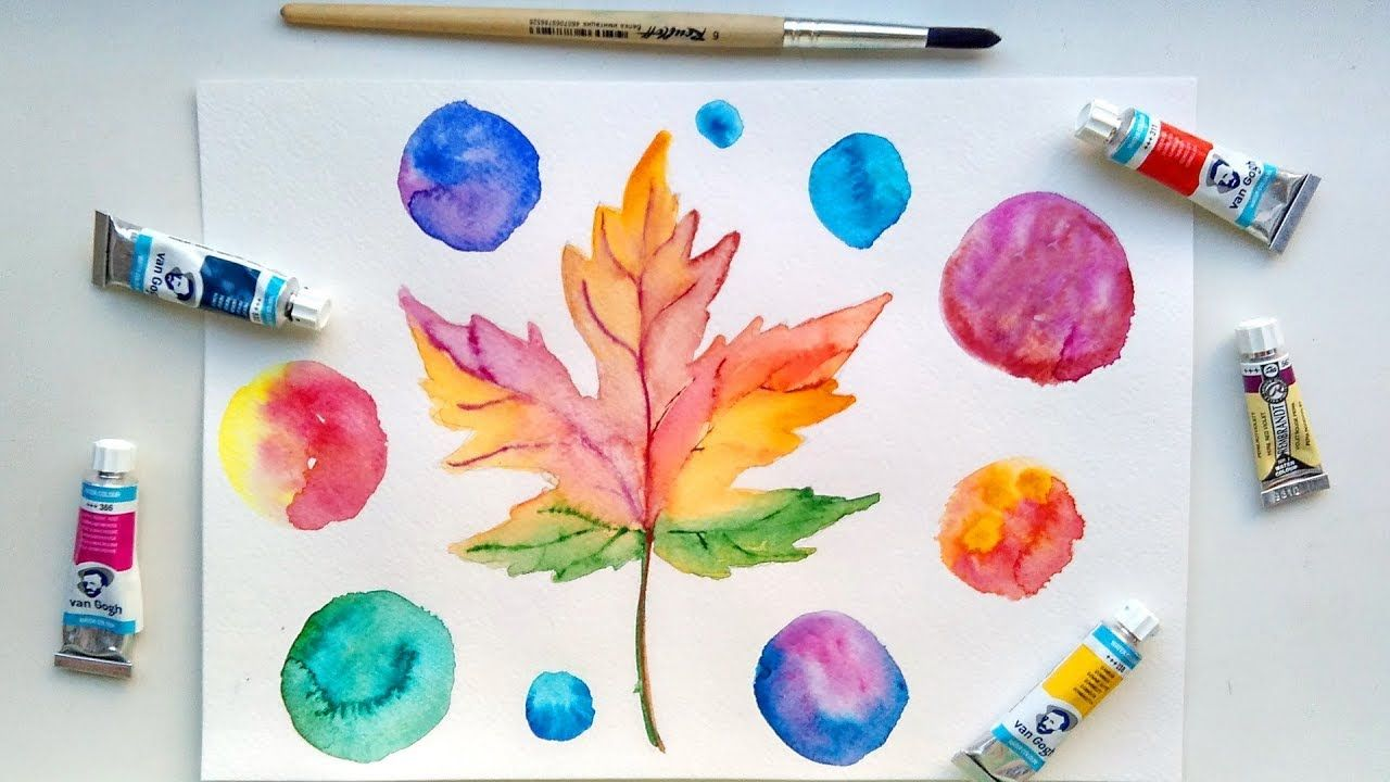 Autumn Leaf Watercolor Painting Diy Fall Decorating Easy Art Ideas