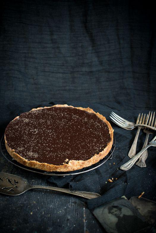 Chocolate Tart with Smoked Sea Salt | Leek Soup