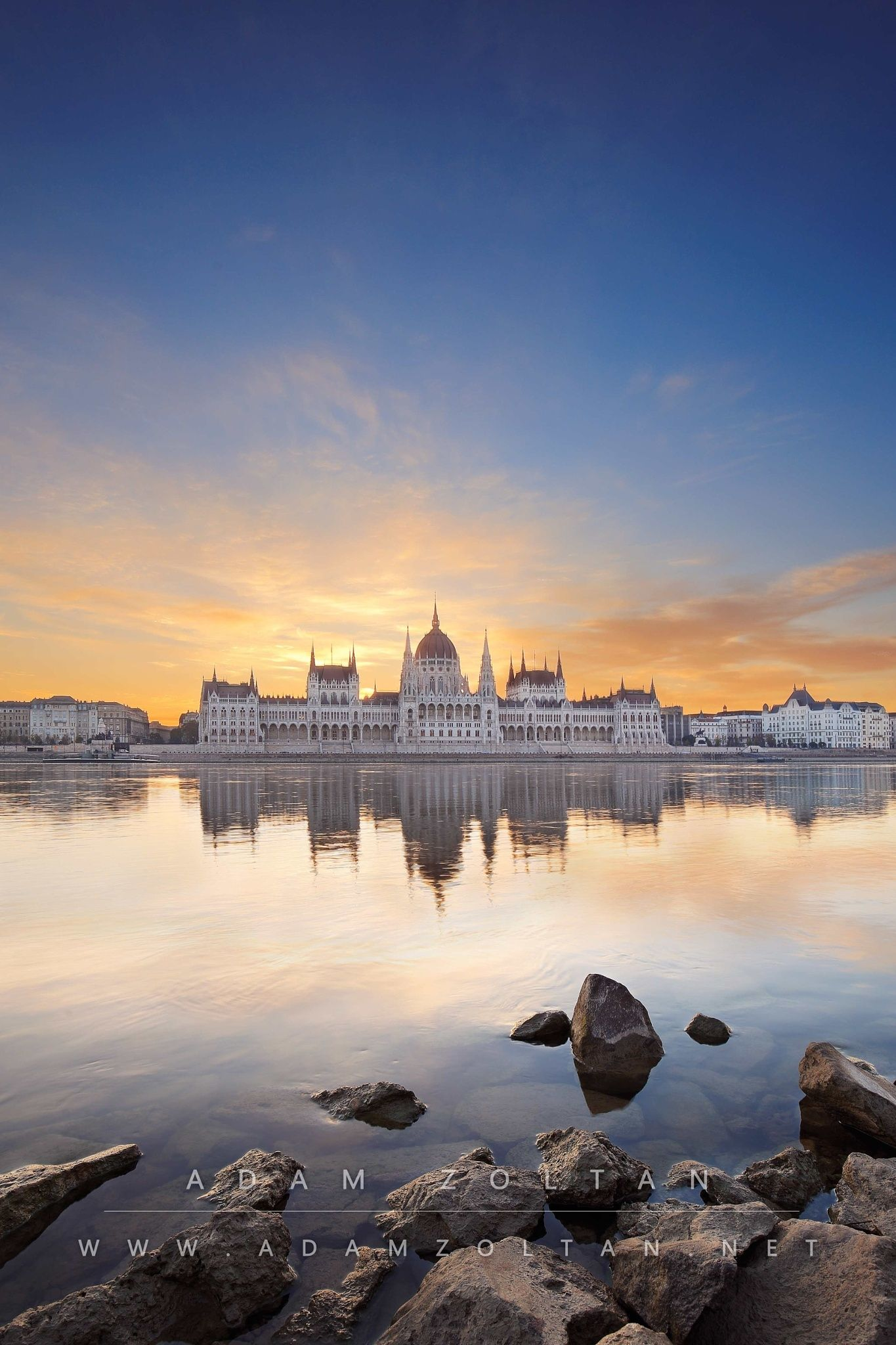 Budapest, Hungary - The Hungarian Parliament building in Budapest, Hungary at sunrise.  All rights reserved - Copyright © Adam Zoltan  http://adamzoltan.net