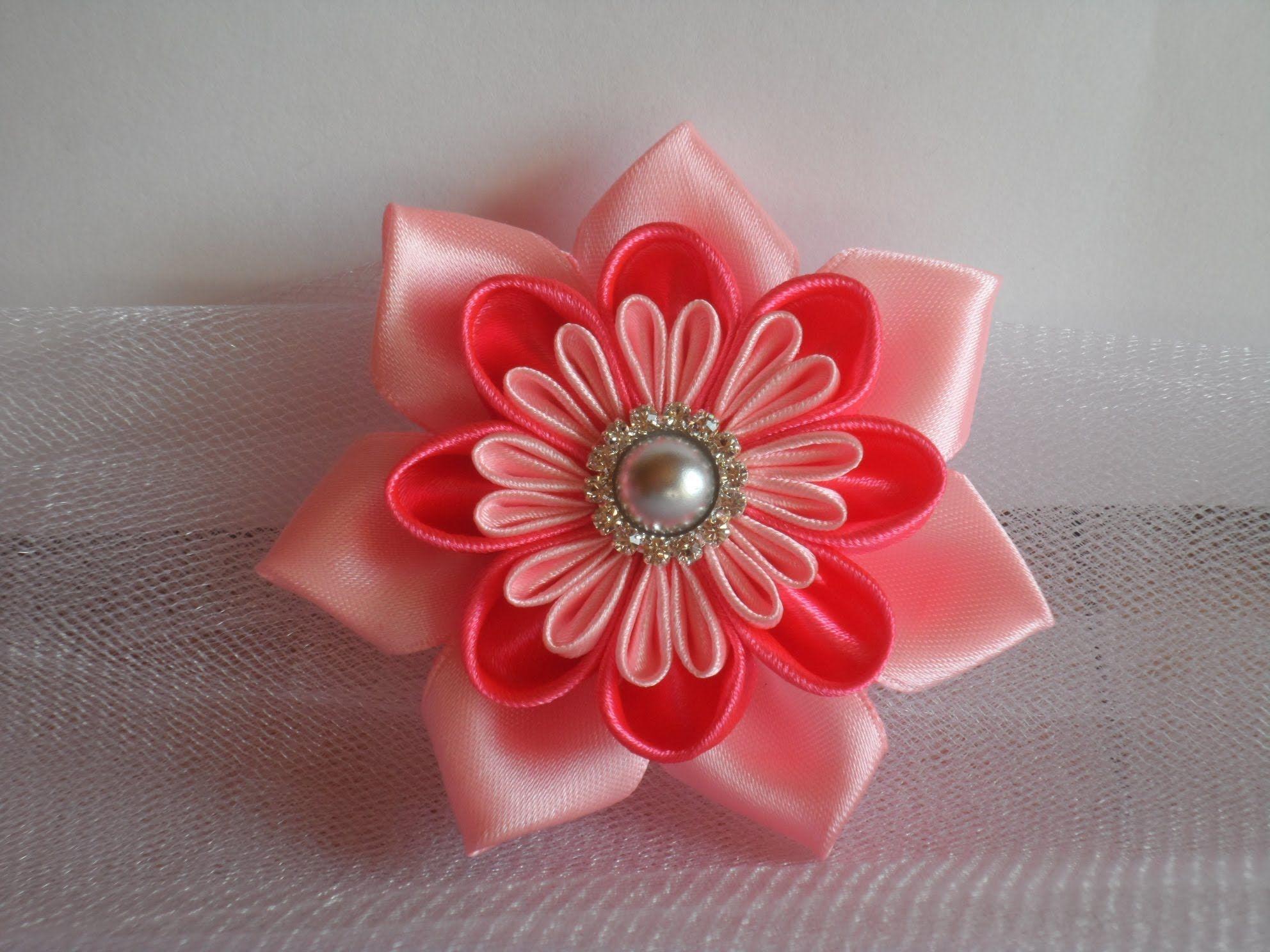 Заказать цветы из ленты мк канзаши, доставкой брянске
