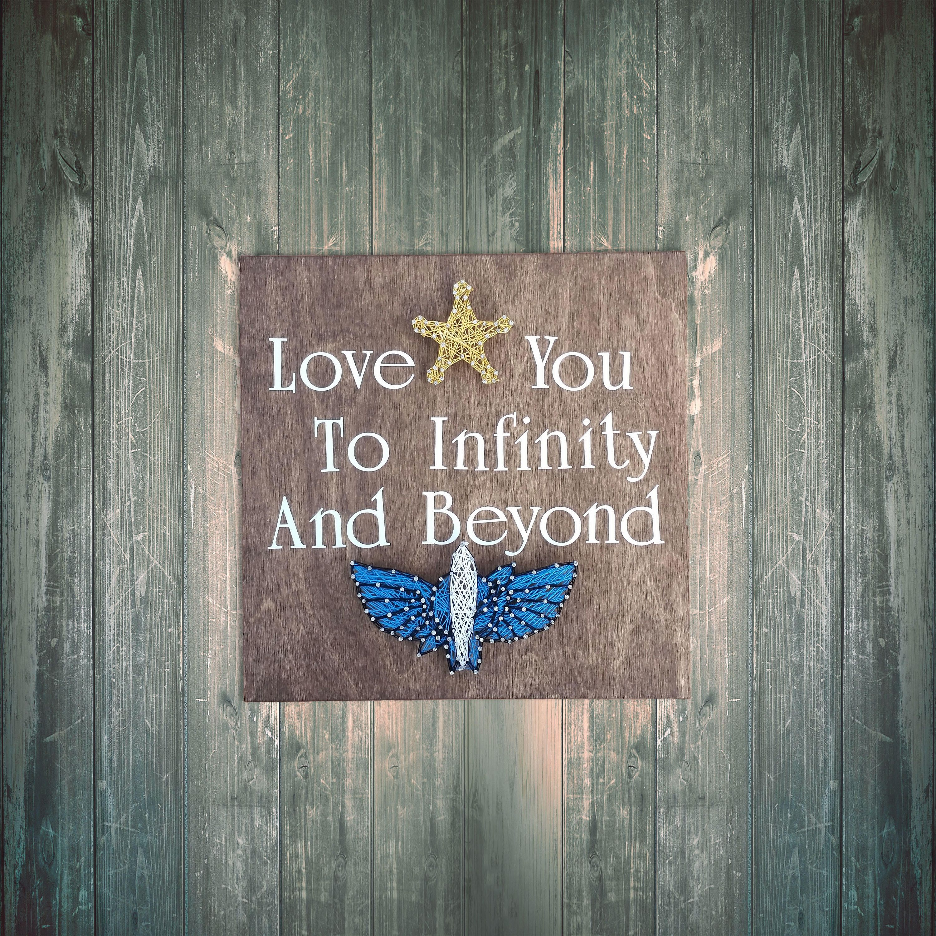Disney Inspired Love you to Infinity and