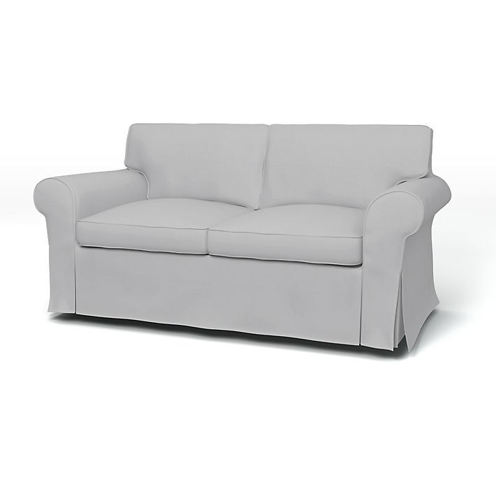 Ektorp Sofa Covers 2 Seater Regular Fit Using The Fabric Panama Cotton Silver Grey Sofa Covers Sofa 2 Seater Sofa