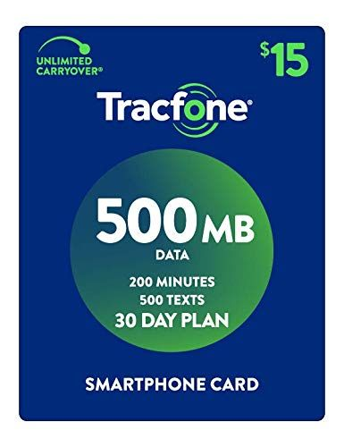 Tracfone Smartphone Only Airtime Service Plan 30 Days