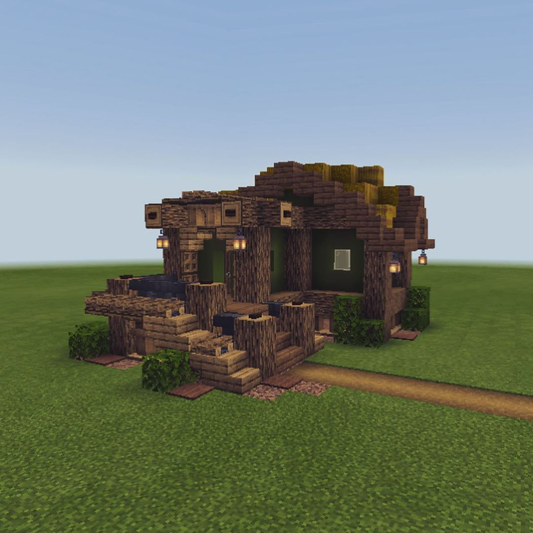 small rustic house design! ➟ dm me for dimensions/ block types