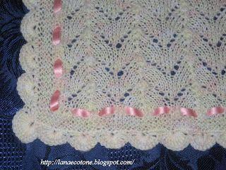 lana e cotone (maglia e uncinetto): copertina a ferri | coperte ... - Copertine Lettino Neonato Ai Ferri