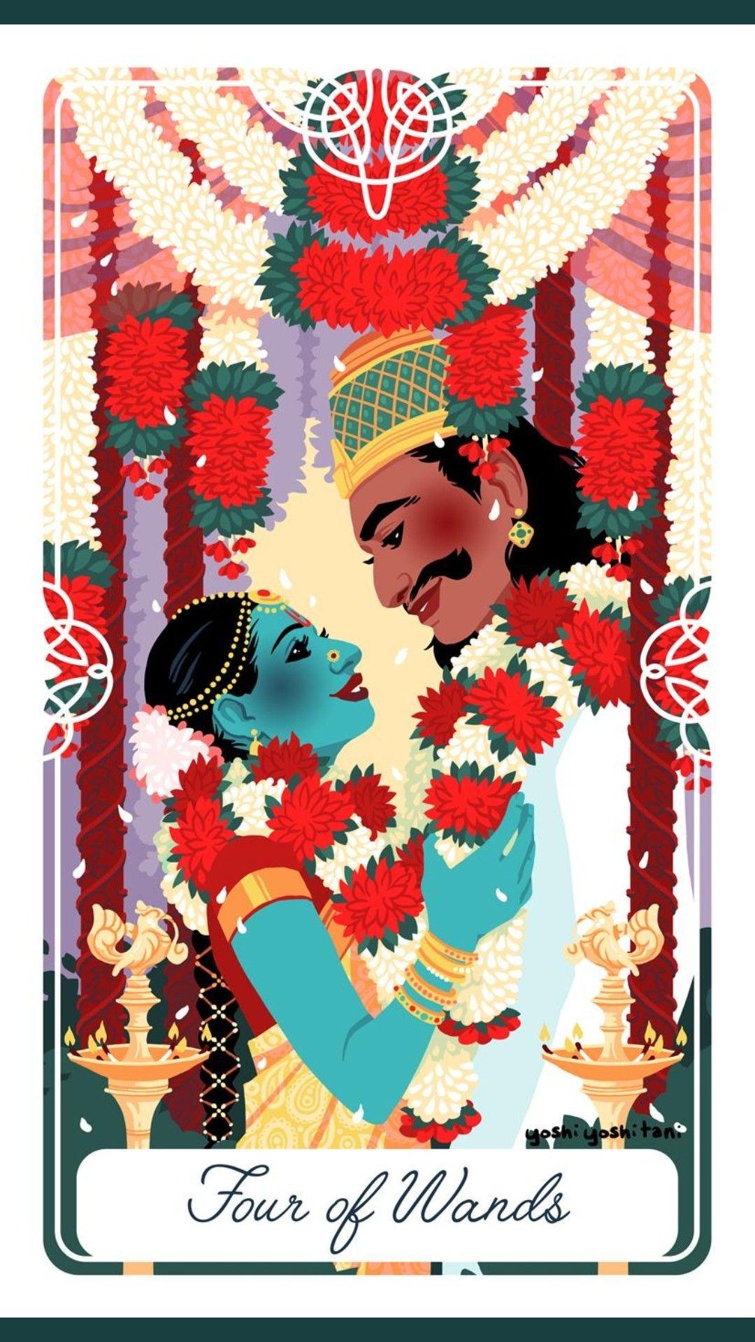 Pin by Elena Frugoni on Tarot Yoshi Yoshitani   Tarot cards art ...