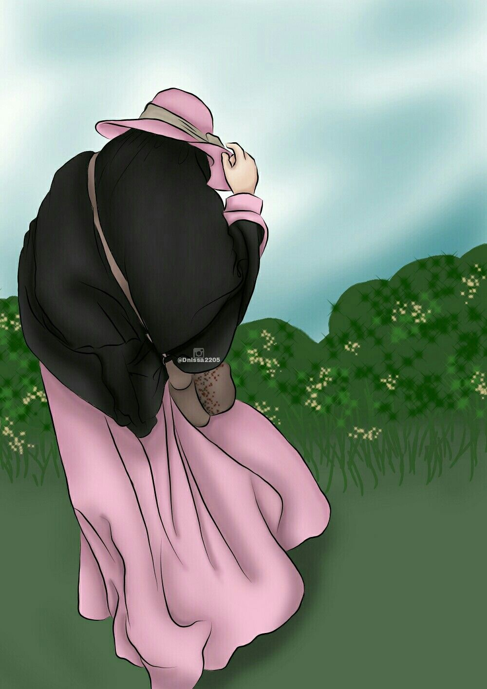 Pin oleh Dnissa2205 di Doodlemuslimah Kartun, Animasi, Seni