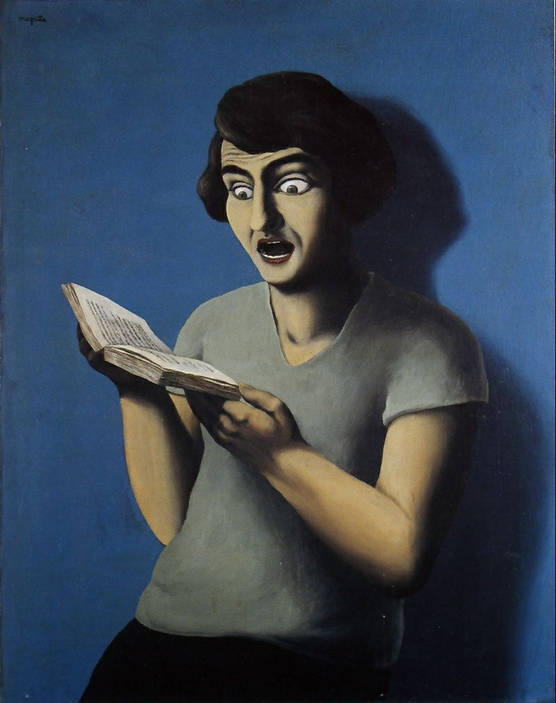 René MAGRITTE Mujer Leyendo The Art Of Reading