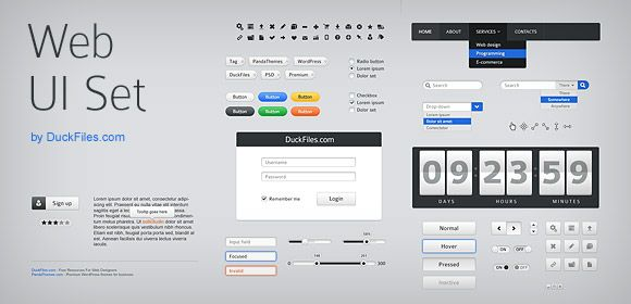 70 User Interface Elements Pack Free Psd Free For Commercial Use Web Design Web App Design Interface Design