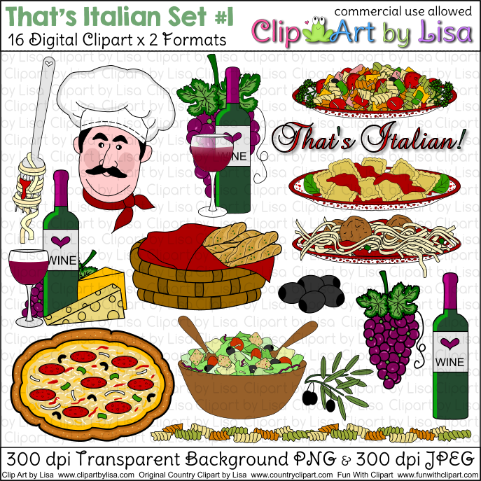 italian clip art food vector of italian food collection 1 vector rh pinterest com Italian Food Art italian food clipart free