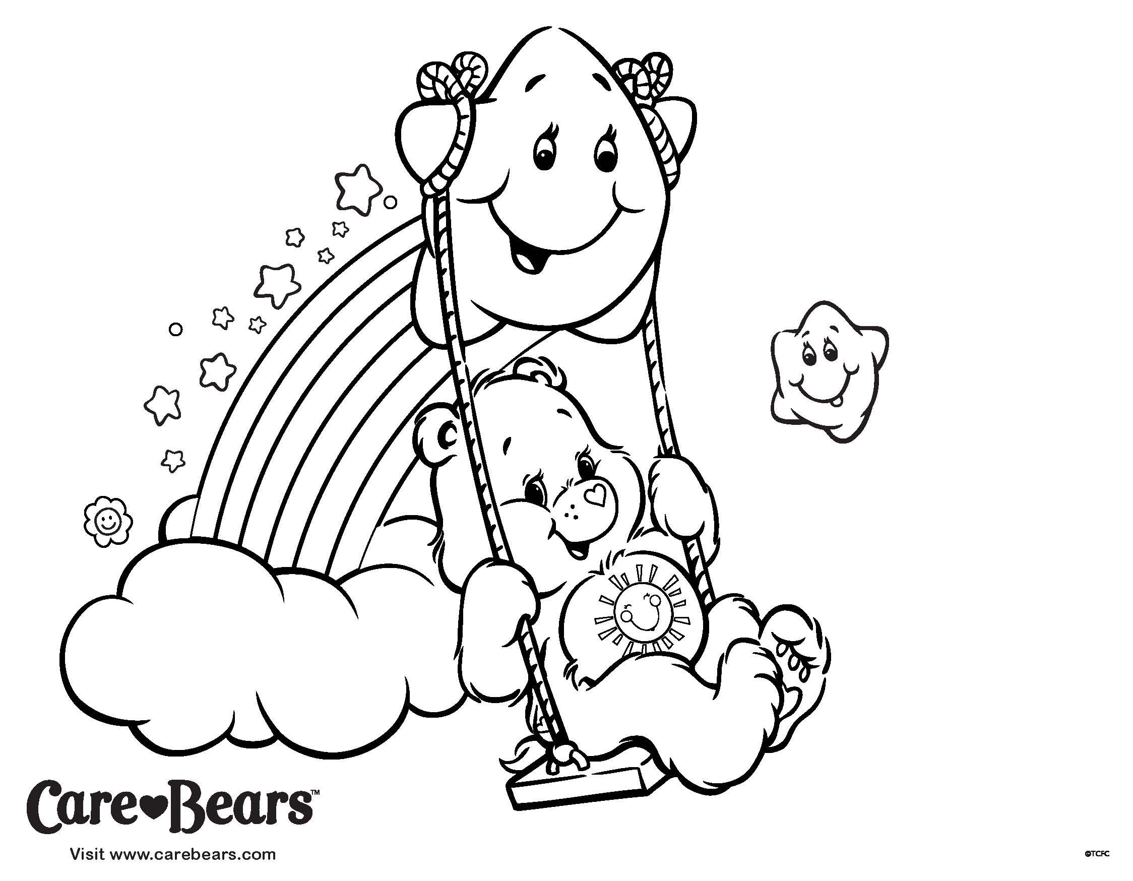 Color In Some Fun With This Funshine Bear Coloring Page From