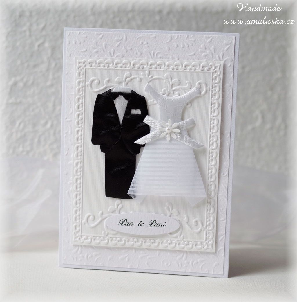 Wedding card for Mr. and Mrs.