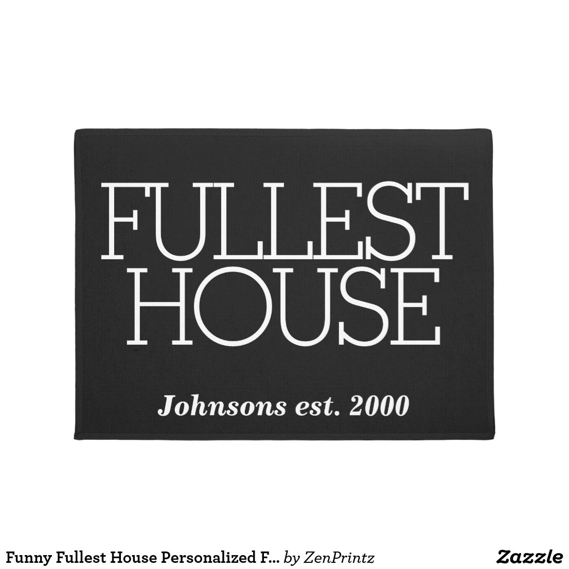 funny fullest house personalized family name door mat home decor