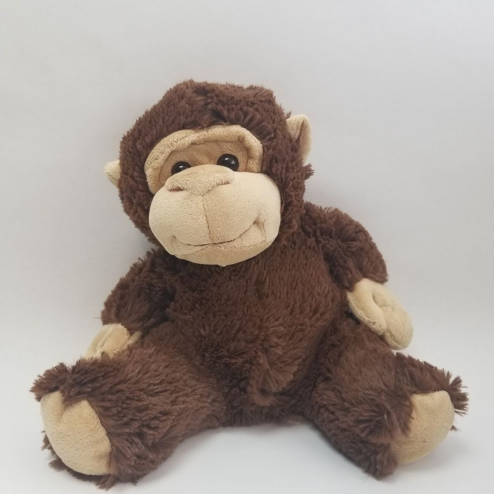 Details About Brown Shaggy Soft Monkey Ape Plush Stuffed Animal