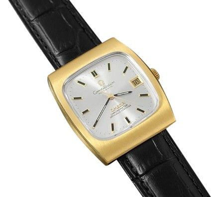 omega constellation vintage gold plated