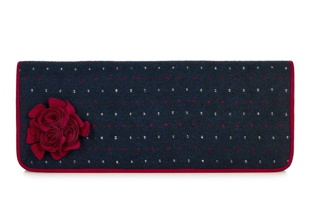 49c31ee66c778 Ruby Shoo London Navy Red Shoulder Clutch Bag | Ruby Shoo AW16 ...