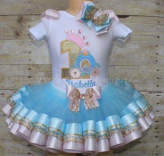 Cinderella Birthday Tutu Set Outfit