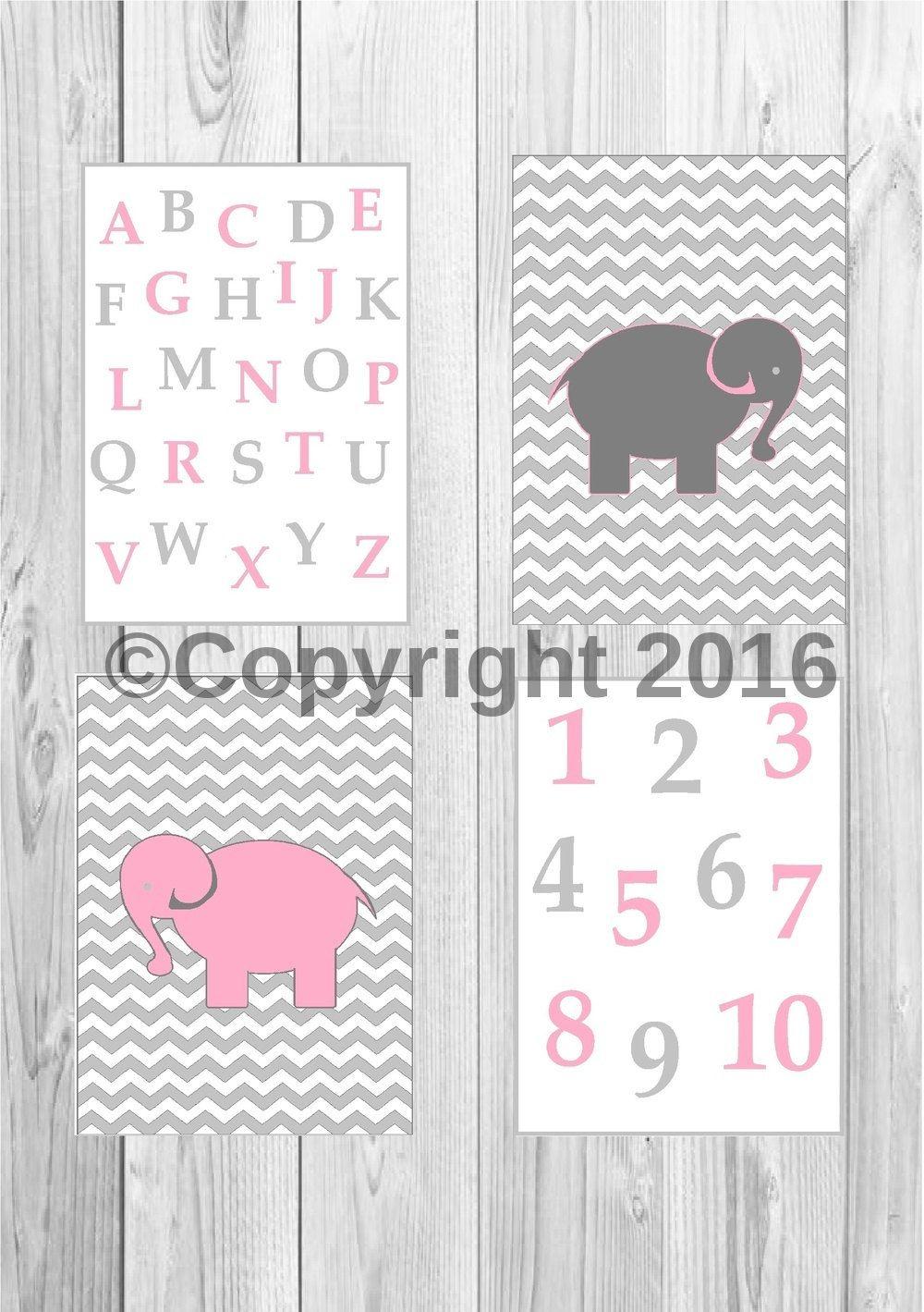 Printable elephant, nursery animal print, elephant nursery decor, kids  animal wall art,