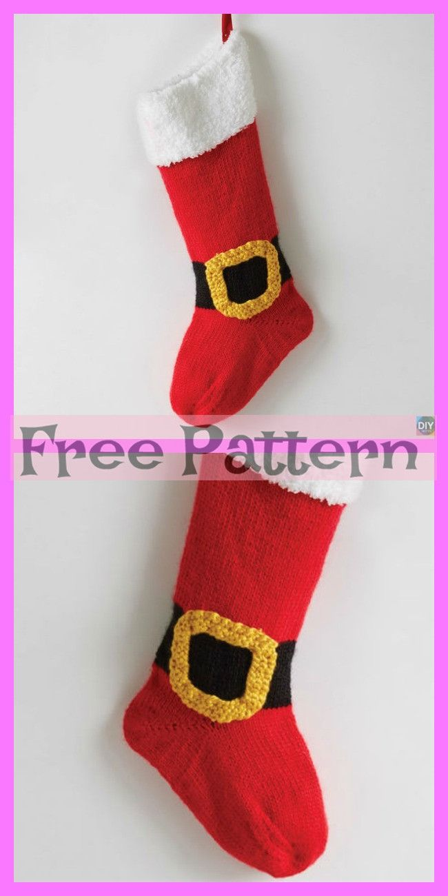 6 Knit Christmas Stocking - Free Patterns | Knitted ...