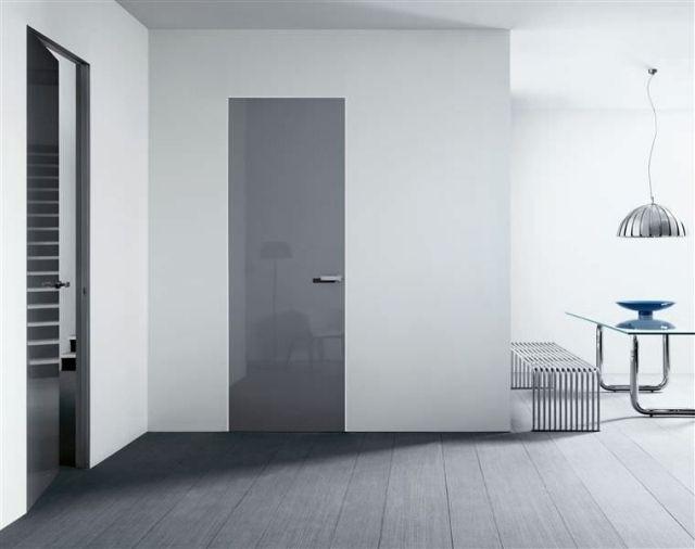 Zimmertür modern grau  innentür modern weiß glatt italienisches design lualdi porte | Tür ...